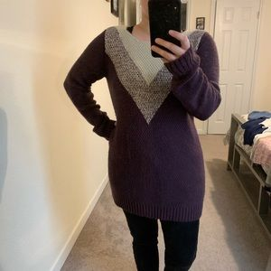 Lengthy Plum Sweater